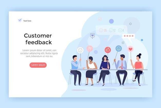 Customer feedback management vector illustration perfect for web design banner mobile app
