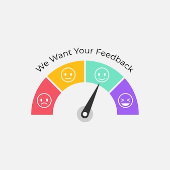 Customer feedback meter symbol illustration