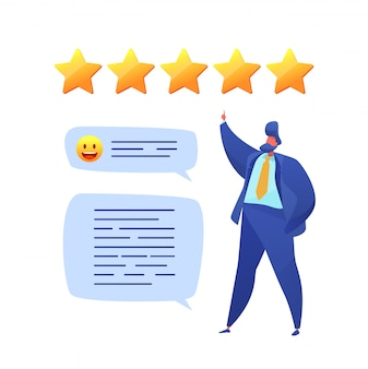 Customer feedback prople rating with stars