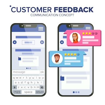 Customer feedback rating