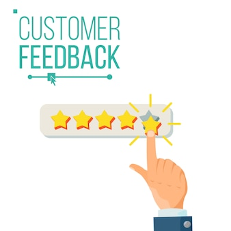Customer giving rating