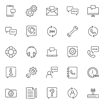 Customer icon pack, with outline icon style