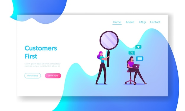 Customer journey, buyer choice, online shopping landing page template.