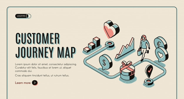 Customer journey map banner