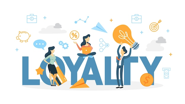 Customer loyalty concept illustration
