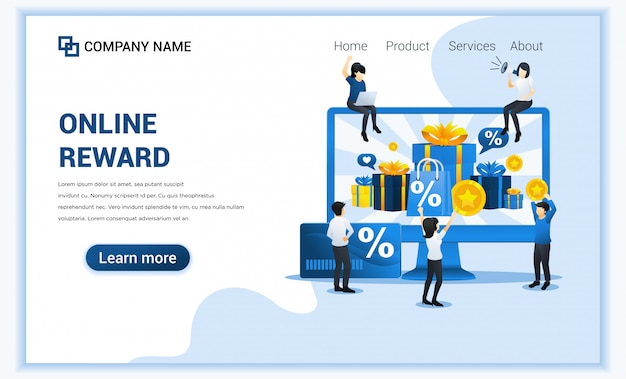 Customer loyalty program and rewards concept, gift box, points and bonuses.