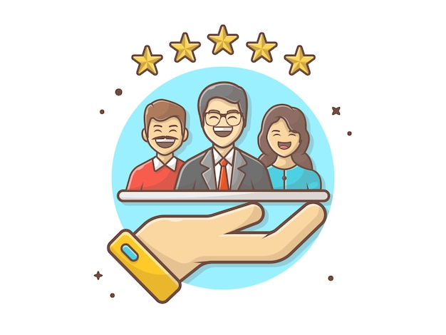 Customer rating  icon illustration