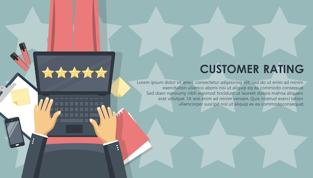 Customer rating on lap top