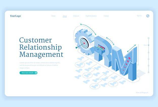 Customer relationship management banner