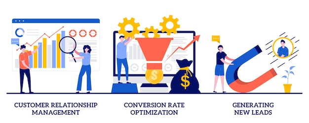 Customer relationship management, conversion rate optimization