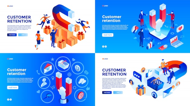 Customer retention banner set