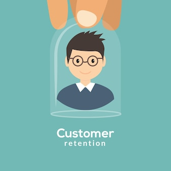 Customer retention care happy patient icon. support customer care pictogram client help.
