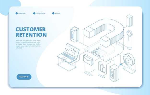 Customer retention landing page template