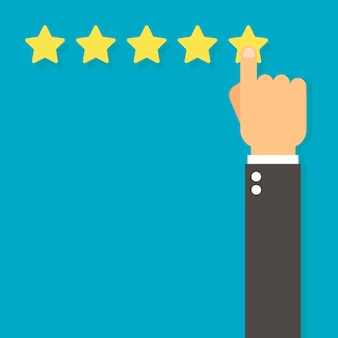 Customer review concept. Premium Vector
