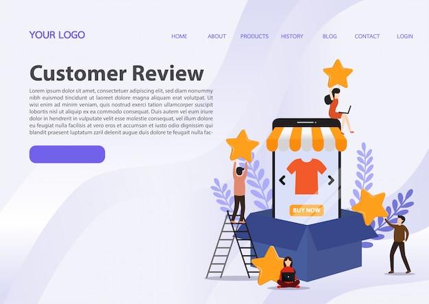 Customer review rating.
