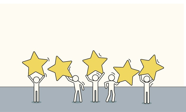 Customer review Premium Vector