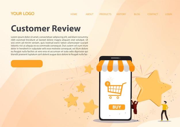 Customer reviews concept