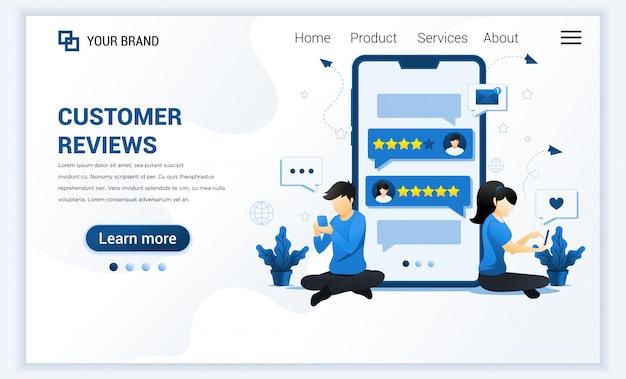 Customer reviews landing page
