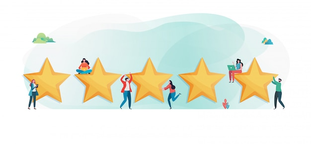 Customer's giving five star rating.
