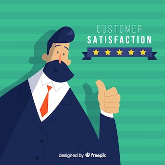 Customer satisfaction design in flat style
