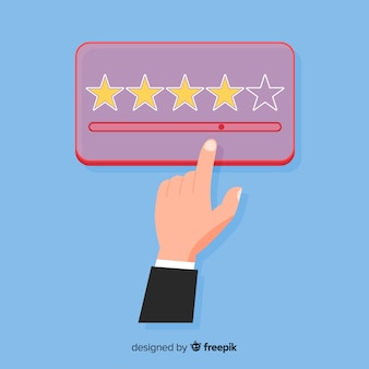 Дизайн удовлетворенности клиентов в плоском стиле