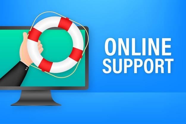 Обслуживание клиентов 24-7. целевая страница колл-центра. центр поддержки онлайн, помощь. векторная иллюстрация штока