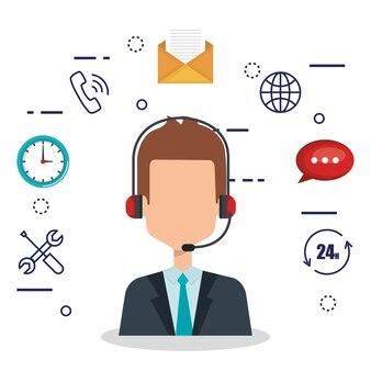 Агент обслуживания клиентов с настройками