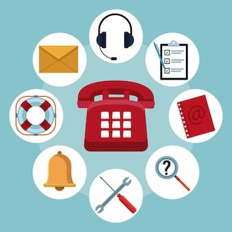 고객 서비스 및 지원 콜센터 개념