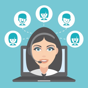 Customer service background design