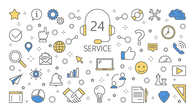 Иллюстрация концепции обслуживания клиентов