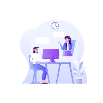 Customer service concept  illustration