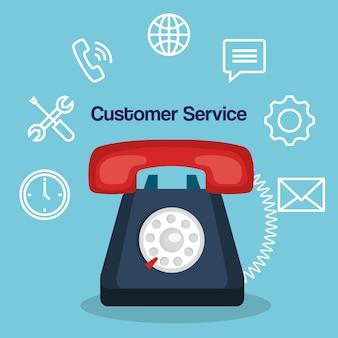 Customer service flat settings