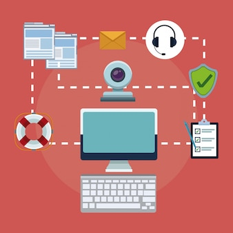 Customer service and technical support concept