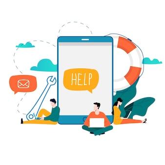 Customer service, technical support, online help