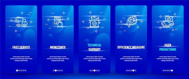 Customer service vertical cards