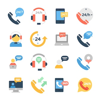 Customer services and customer support icons