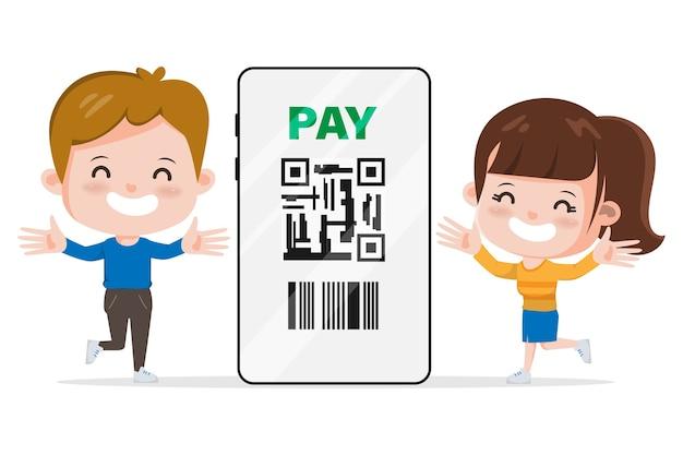 Customer shopping online. stay at home avoid spreading the coronavirus. online shopping on mobile concept.