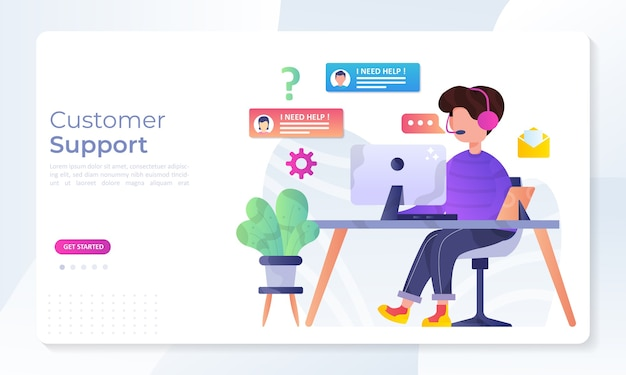 Customer support concept