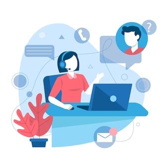 Customer support flat illustration
