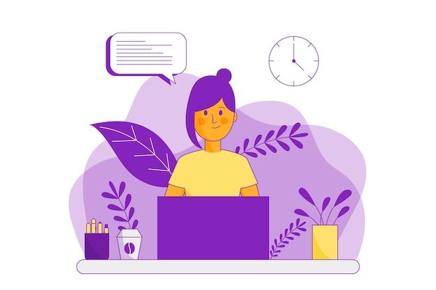 Customer support flat illustration
