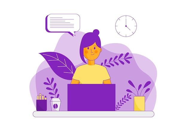 Плоская иллюстрация службы поддержки клиентов