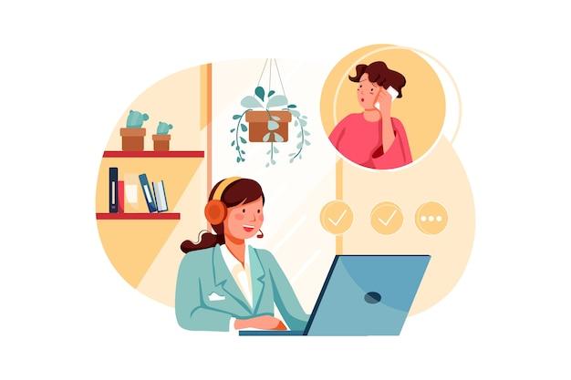 Customer support illustration concept
