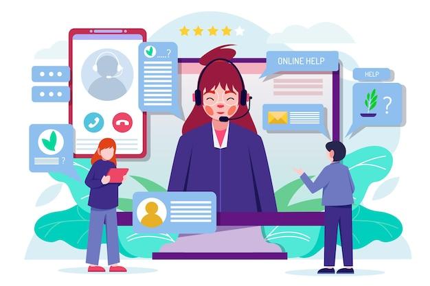 Illustrazione del supporto clienti