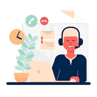 Иллюстрация службы поддержки клиентов
