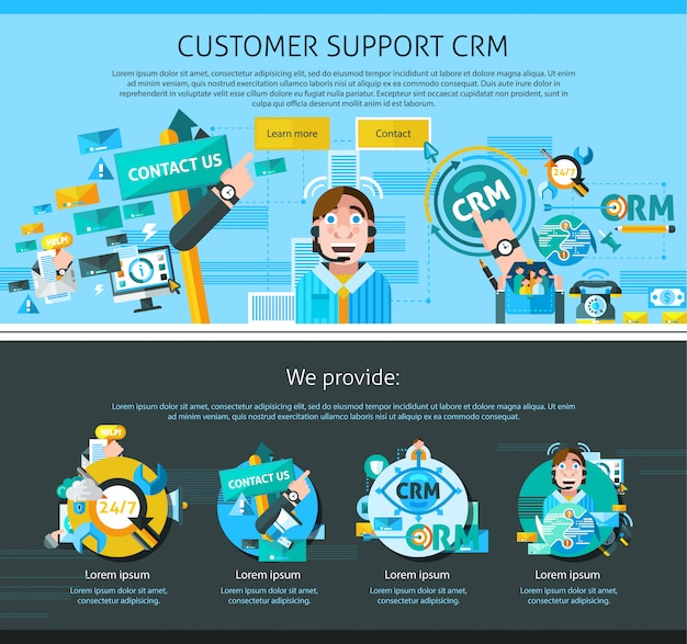 Customer support page design