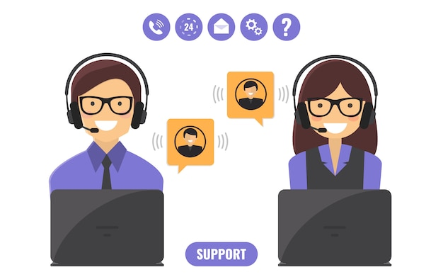 Customer support service concept.