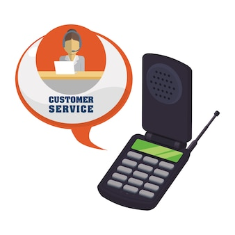 Customer support service icons