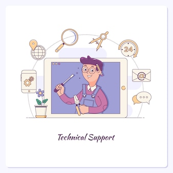 Customer support. technical support, call center, customer retention