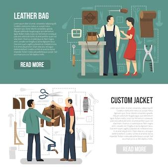 顧客とスキナー水平バナーセット