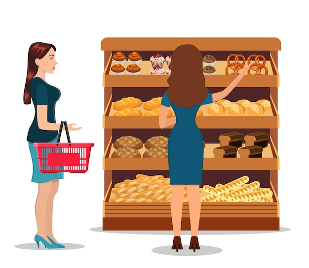 Customers people bying products in supermarket